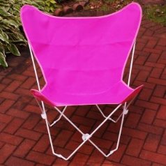 Algoma  Butterfly Chair - White Frame - 11 Colors