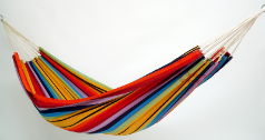 Barbados Hammock Single - Rainbow