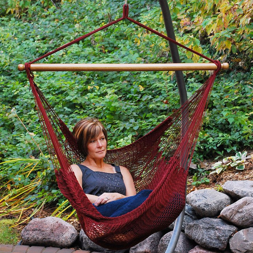 algoma caribbean rope hammock chair   3 colors algoma caribbean rope hammock chair  rh   relaxinghammocks