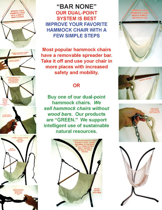 How To Use The Xchair With Barred Hammock Chair