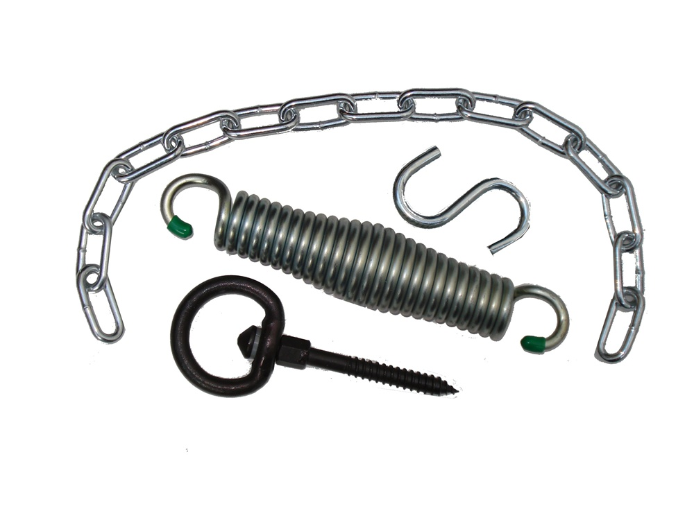 Hammock chair suspension kit with spring and swivel for Hanging chair spring