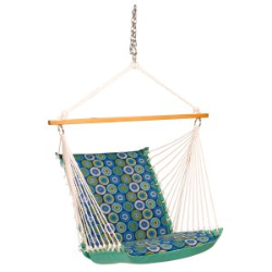 Algoma Reversible Hanging Chair - Jax Lagoon/Lagoon Solid