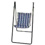 Algoma Swing Chair and Stand Set - Tropical Blue Stripe