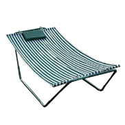 Algoma 4-Point Hammock Lounger - Green and White Stripe