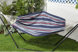 Bliss Oversized Brazilian Hammock In A Bag- Patriotic
