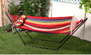 Bliss Hammock with Pillow - Tequila Sunrise