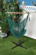 Bliss Tahiti Cotton Hammock Chair - Green Rope