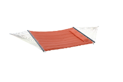 "Bliss ""S"" Stitched Polyester Quilted Hammock - Terra Cotta"