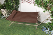 "Bliss ""S"" Stitched Polyester Quilted Hammock  - Cocoa Brown"