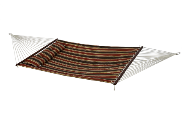 Bliss Euro Quilted Hammock with Button Tuft Pillow - Brown/Black