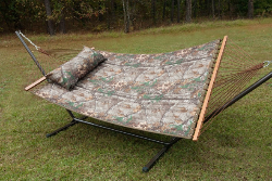 Castaway Hammocks RealTree Quilted Hammock Combo w/Pillow & Stand