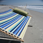 Pawleys Island Large Quilted Hammock - Beaches Stripe