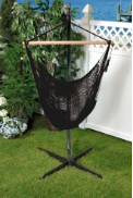 Bliss Tahiti Cotton Rope Hammock Chair - Raven Black