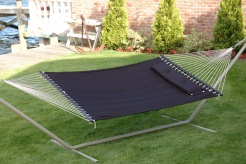 "Bliss ""S"" Stitched Polyester Quilted Hammock - Raven Black"
