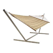 Castaway Hammocks Large Quilted Hammock - Neutral Stripe