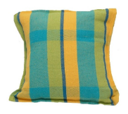 Brazilian Hammock Pillow - Mustard Blue