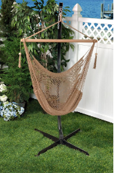Bliss Tahiti Cotton Hammock Chair - Brown Rope