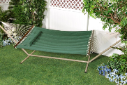 "Bliss ""S"" Stitched Polyester Quilted Hammock - Sage Green"